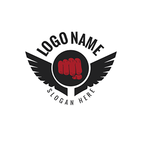 Wing and Fist logo design