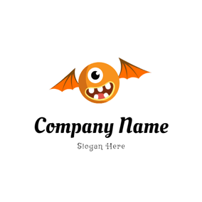 Wing and Monster Head logo design