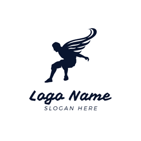 Wing and Parkour Sportsman logo design
