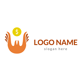 Wings and Dollar Donation Logo logo design