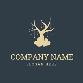Wishing Tree and Twinkling Star logo design