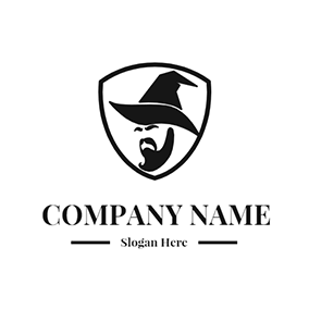 Wizard and Badge logo design