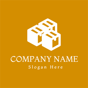 Wooden Storage Box logo design