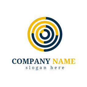 Yellow and Black Circle logo design