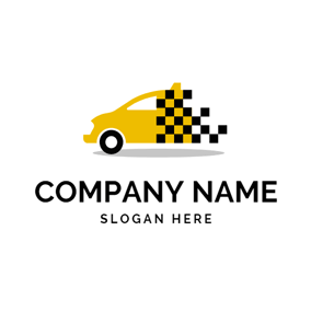 Yellow and Black Taxi logo design