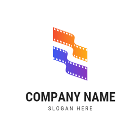 Yellow and Blue Film logo design