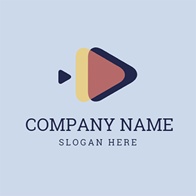 Yellow and Blue Triangle logo design