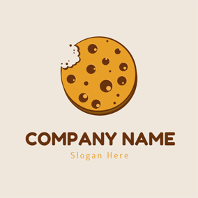 Yellow and Brown Biscuit logo design