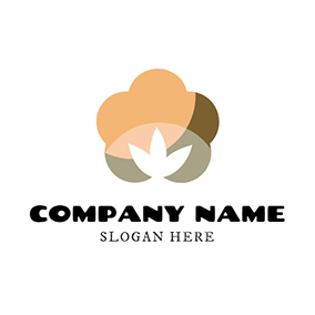 Yellow and Brown Cotton logo design