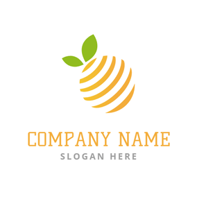 Yellow and Creative Orange logo design