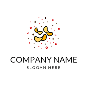 Yellow and Orange Chips logo design