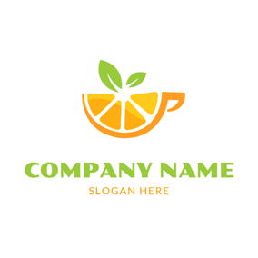 Yellow and Orange Juice logo design