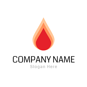 Yellow and Red Fire Icon logo design