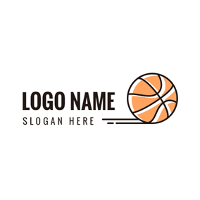 Yellow and White Basketball logo design
