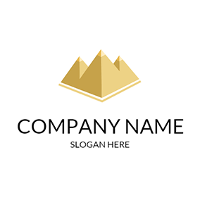 Yellow and White Pyramid logo design