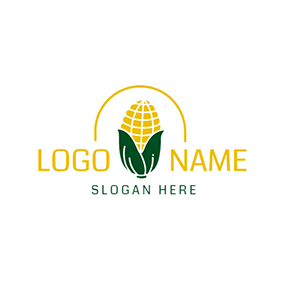 Yellow and White Sweet Corn logo design