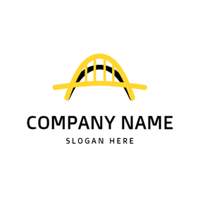 Yellow Arch Bridge and Shadow logo design