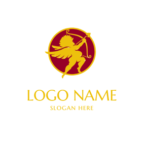 Yellow Bow and Arrow logo design