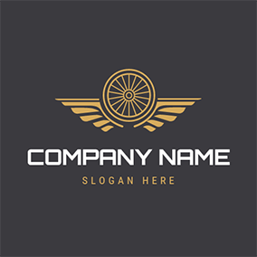 Yellow Brand and Wheel logo design