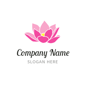 Yellow Bud and Pink Lotus logo design