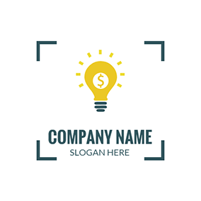 Yellow Bulb and Dollar Sign logo design