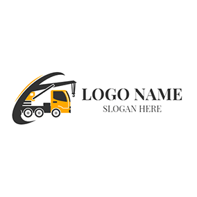 Yellow Car and Black Crane logo design