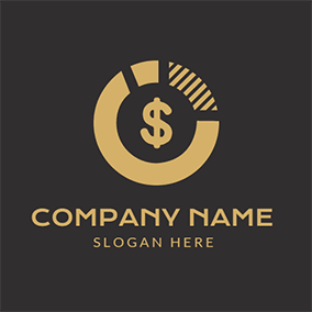 Yellow Circle and Dollar Sign logo design