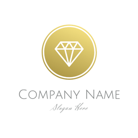 Yellow Circle and White Diamond logo design