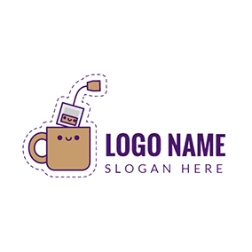 Yellow Coffee and Good Morning logo design