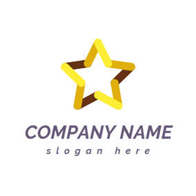 Yellow Connected Star logo design