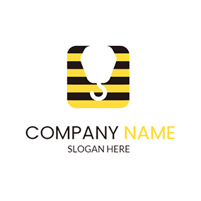 Yellow Container and White Crane Hook logo design