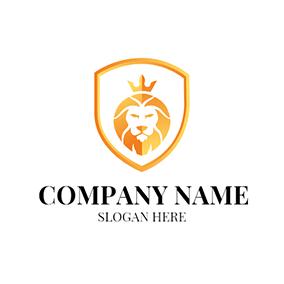 Yellow lion logo - photo#43