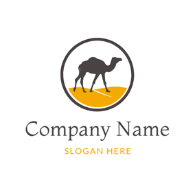 Yellow Desert and Black Camel logo design