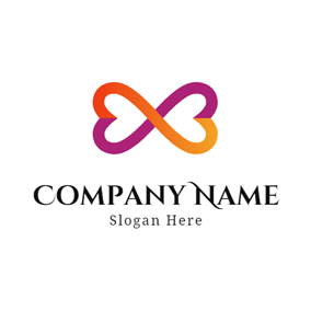 Yellow Heart Shape and Infinity logo design