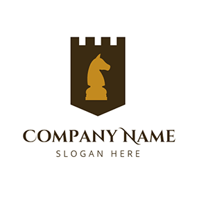 Yellow Horse and Brown Castle logo design