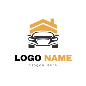 Yellow House and Black Car logo design