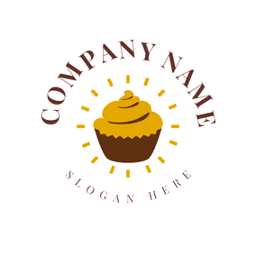 Yellow Light and Cupcake logo design