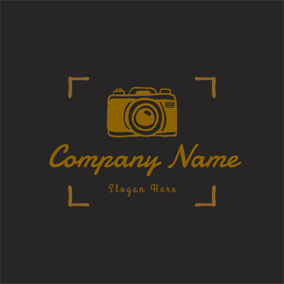 Yellow Line and Camera logo design