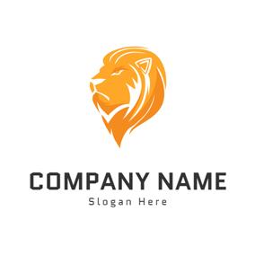 Yellow lion logo - photo#48