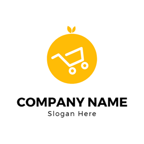 Yellow Orange and White Trolley logo design