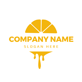 Yellow Orange Slice and Juice logo design