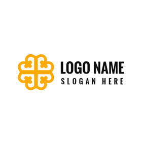 Yellow Pattern and Fashion Brand logo design