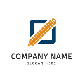 Yellow Pen and Tablet logo design