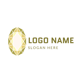 Yellow Precious Stone Icon logo design