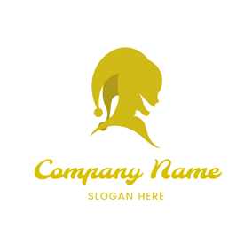 Yellow Profile and Joker Hat logo design