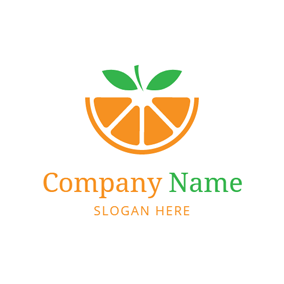 Yellow Semicircle Orange logo design