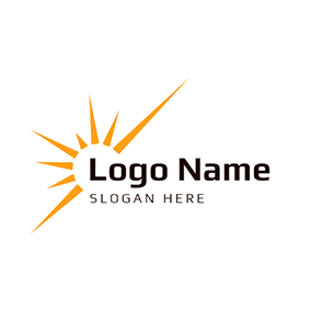 Yellow Shine and White Sun logo design
