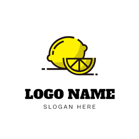 Yellow Slice and Lemon logo design