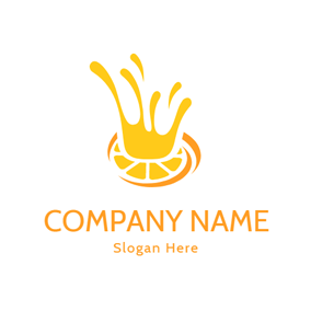 Yellow Splash Juice Icon logo design