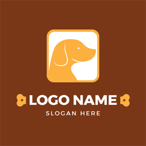 Yellow Square and Dog Head logo design